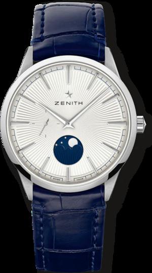 Herrenuhr Zenith Elite Moonphase 40.5mm mit zweifarbigem Zifferblatt und Alligatorenleder-Armband