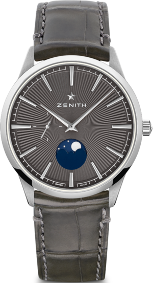 Herrenuhr Zenith Elite Moonphase 40.5mm mit Alligatorenleder-Armband