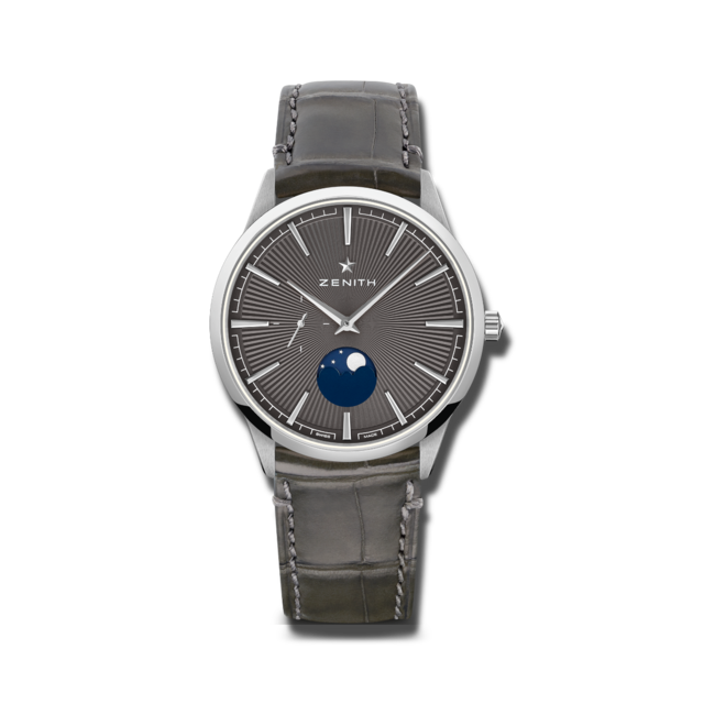 Herrenuhr Zenith Elite Moonphase 40.5mm mit Alligatorenleder-Armband bei Brogle