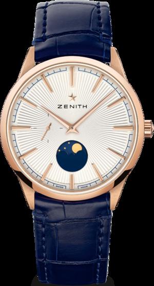 Herrenuhr Zenith Elite Moonphase 40.5mm mit Alligatorenleder-Armband