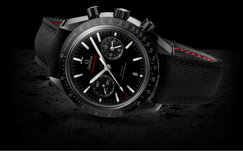 "zur Omega Speedmaster Moonwatch ""Dark Side of the Moon"""